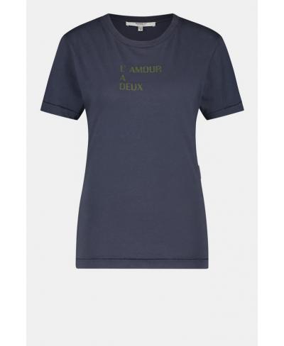 Tee-shirt bleu marine/kaki