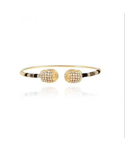 Bracelet Duality grand Scaramouche strass or